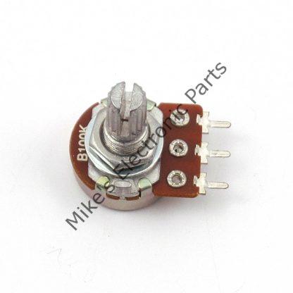 Miniature 5/8 Inch Diameter Body 1/4 Inch Shaft Solder Pin 100K Pot