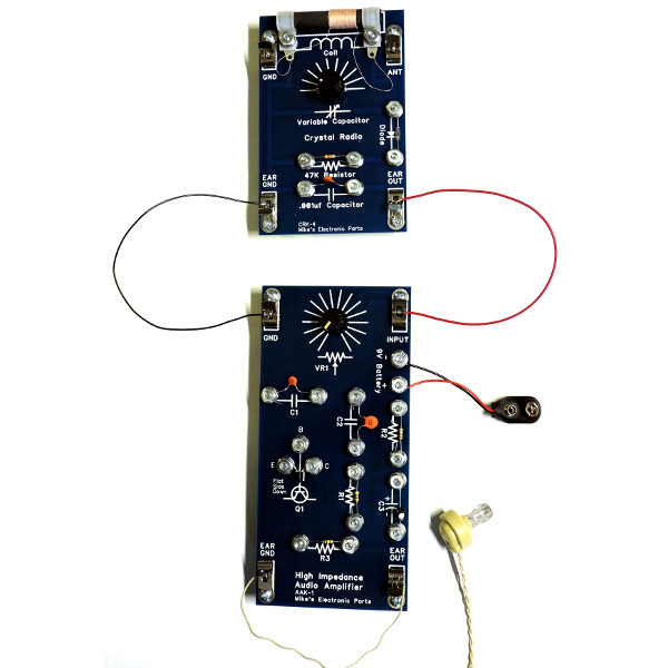 Audio Kit 1 with Crystal Radio Kit 4
