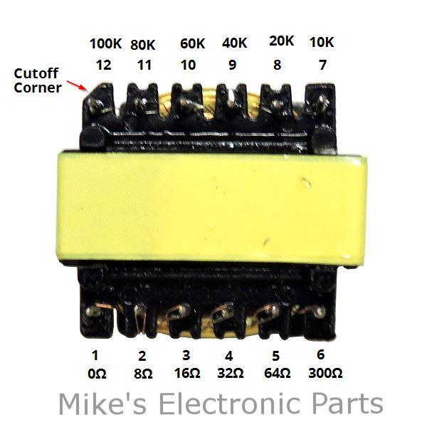 Crystal Radio Audio Matching Transformer Terminals